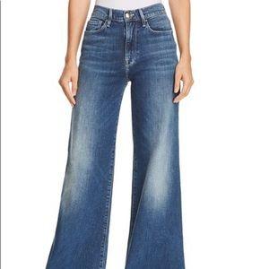 Frame Palazzo Wide Leg Flare Blue Jeans Sz27